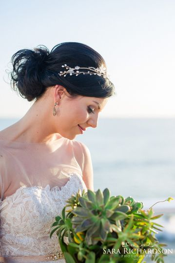 Succulent Bouquet - Destination Wedding Los Cabos