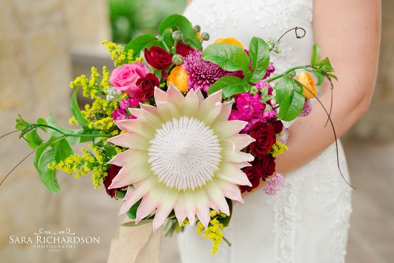Bright Bouquet - Destination Wedding Los Cabos