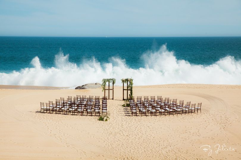 Beach set up, cabo wedding