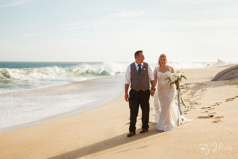 Dreamy Beach Wedding, private Villa Los Cabos Mexico