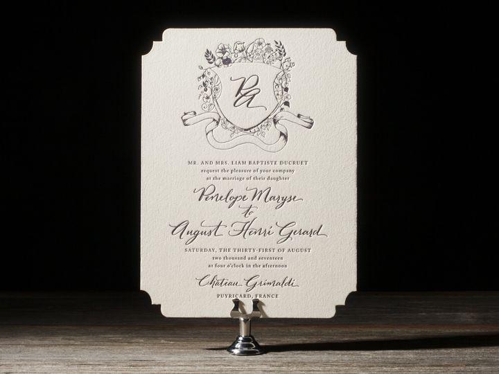 Tmx 1395172213228 Laurent Letterpress Sample  Costa Mesa wedding invitation