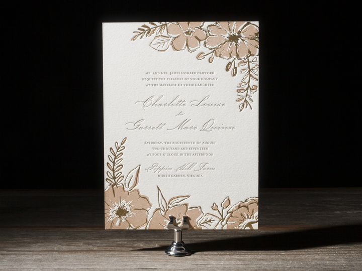Tmx 1395172626509 Seraphina Letterpress Sample  Costa Mesa wedding invitation