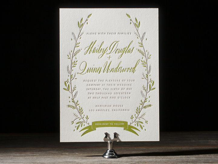 Tmx 1395172712815 Rustic Thicket Letterpress Sample  Costa Mesa wedding invitation