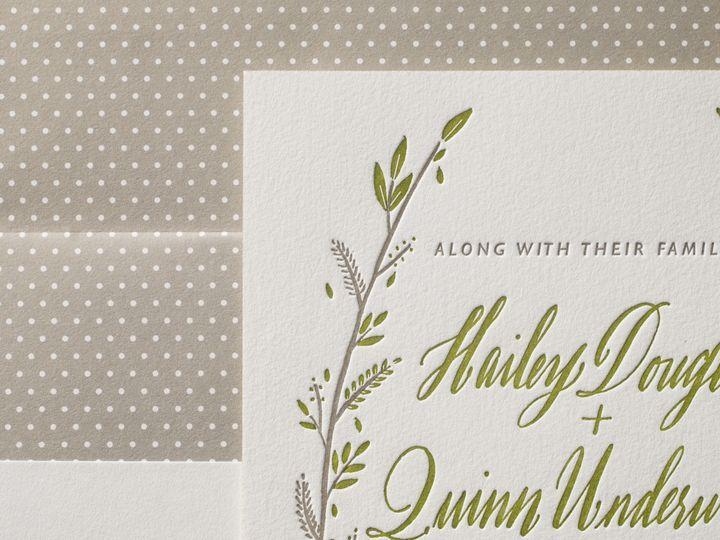 Tmx 1395172769686 Rustic Thicket Letterpress Sample  Costa Mesa wedding invitation