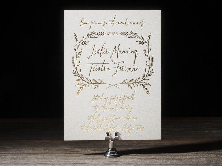 Tmx 1395173304664 Harvest Letterpress Sample  Costa Mesa wedding invitation