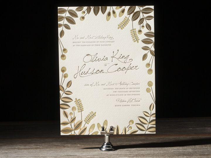 Tmx 1395173492254 Bittersweet Letterpress Sample  Costa Mesa wedding invitation