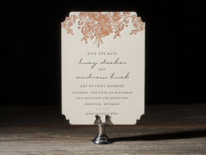 Tmx 1395173653451 Faunus Letterpress Sample  Costa Mesa wedding invitation