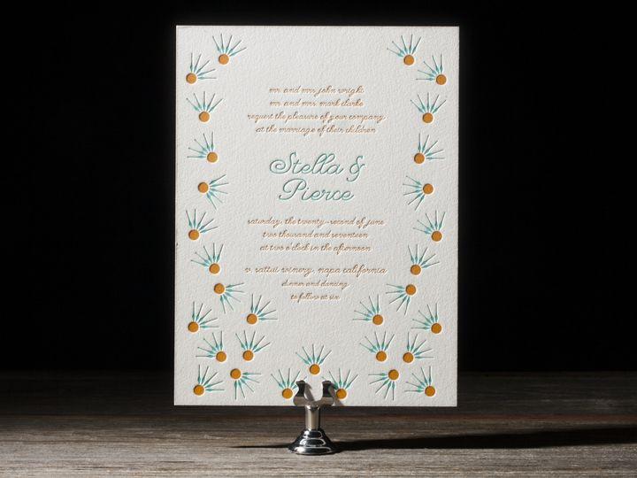 Tmx 1395173727675 Floret Letterpress Sample  Costa Mesa wedding invitation