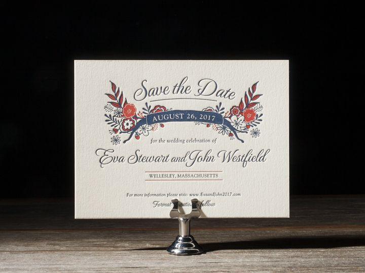 Tmx 1395174014122 Folk Floral Letterpress Sample  Costa Mesa wedding invitation
