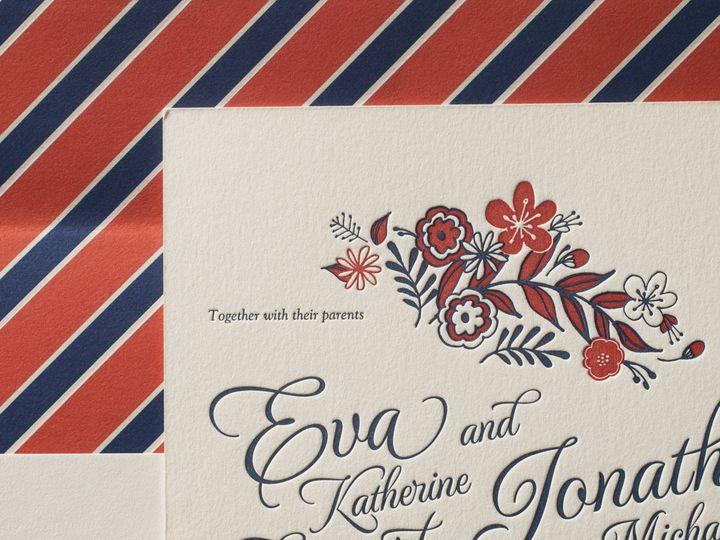 Tmx 1395174046978 Folk Floral Letterpress Sample  Costa Mesa wedding invitation