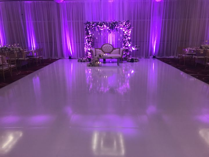 White wrapped dance floor