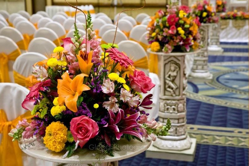 center pieces and also used as aisle pieces at the weddings