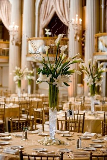 center piece on tables to enhance wedding reception at Biltmore hotel