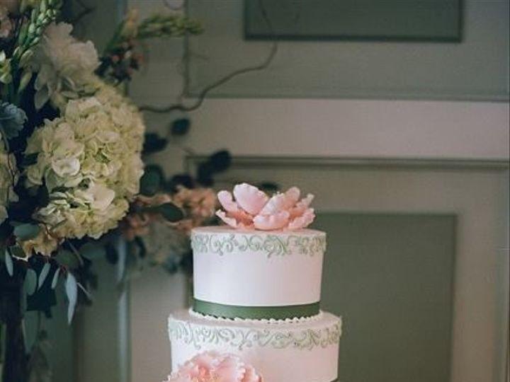 Tmx 1519591465 561cf93cafb13d47 1519591465 B58c5aac182208d7 1519591464979 7 Green Stripe Cake Bloomfield, NJ wedding cake