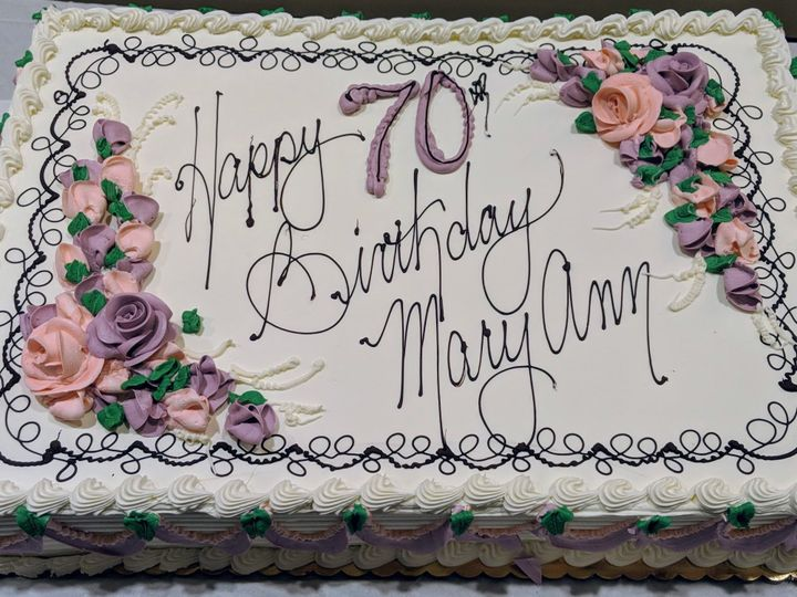 Tmx 1537221987 Dc6164f7d5c5f599 1537221985 A356eda9cdc173e2 1537221984928 2 MaryAnn 70th Bloomfield, NJ wedding cake