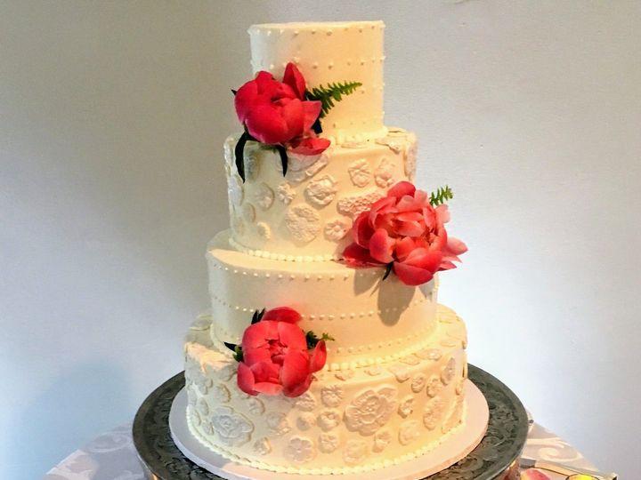 Tmx 1537222447 8ffe452c8c53317e 1537222445 4ec1822931da7041 1537222444657 5 Peach Petal Cake Bloomfield, NJ wedding cake
