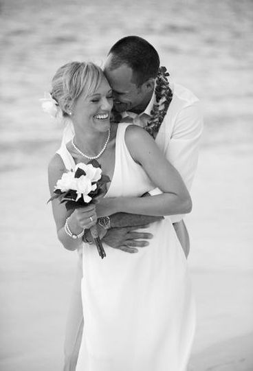 hawaii bride and groom portrait