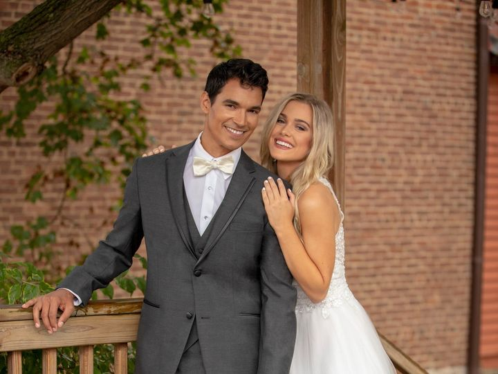 Tmx 265m Kc Steel Grey Kenneth Cole Tuxedo Bride And Groom Img 6800 51 646676 157927738718058 Waterloo wedding dress