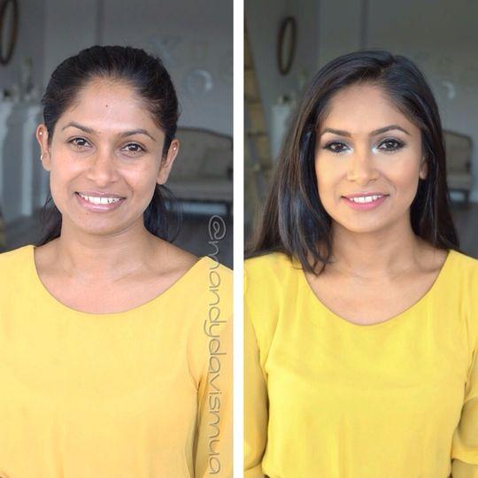 Bright makeup look