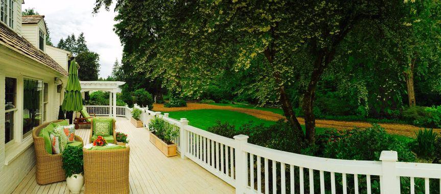 Manor riverside deck