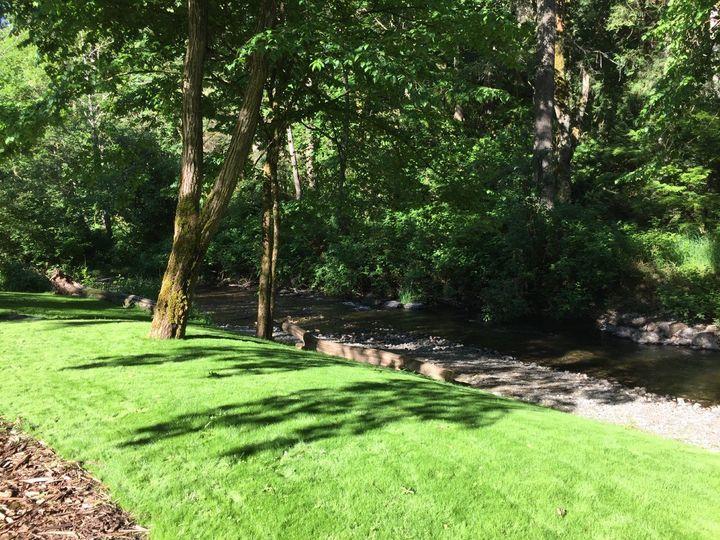 Riverside lawn