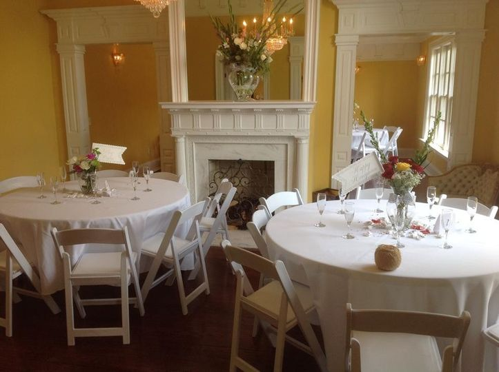 Indoor reception, shower, party, etc. Seated meal.