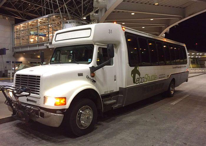 Bus type white limo