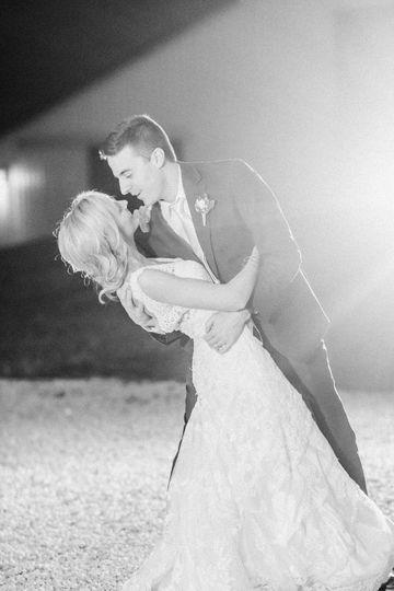 Late night dance under stringlights