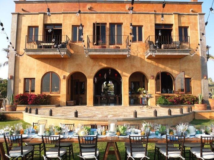 sara table set up with villa