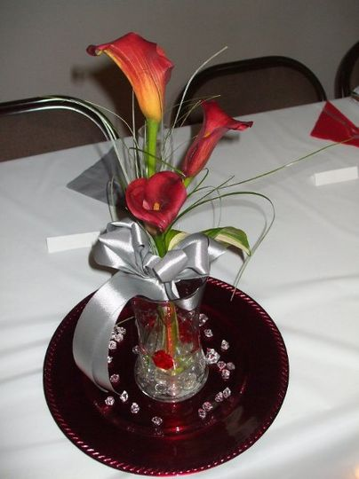 Large red calla lillies