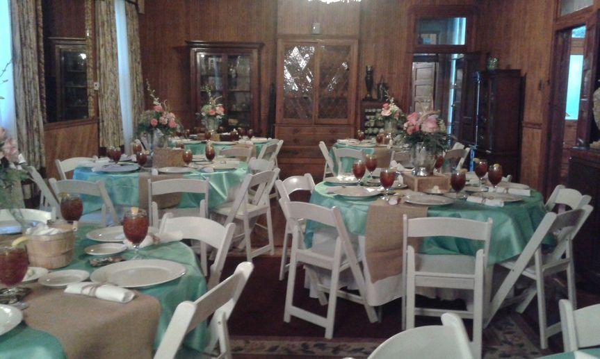 Dining room setup