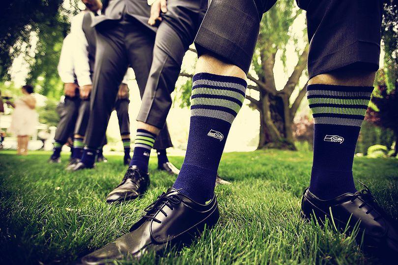 seahawks wedding socks