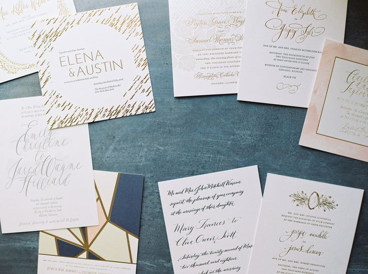 Invites with gold detailing