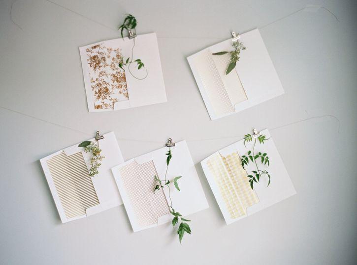 Plant themed wedding invite