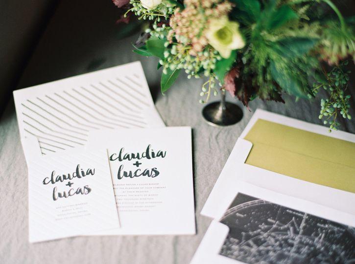 Hand written font on invites