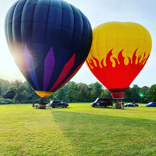 First hot air balloon ceremony