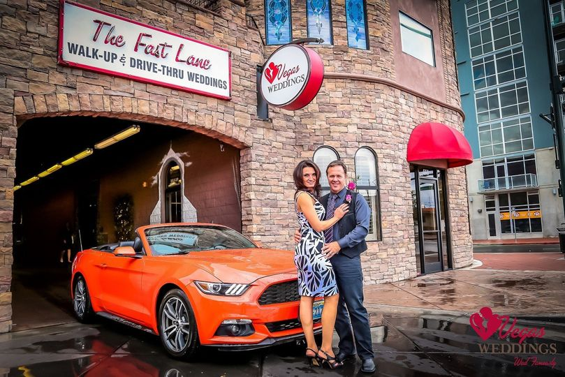 "Only few can say they're ""Wed in the Fast Lane!"" Vegas Weddings offers drive-thru weddings in our..."