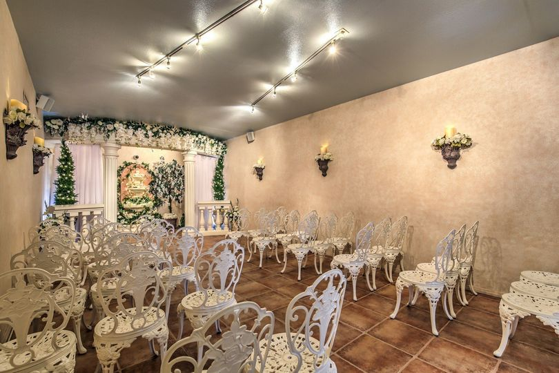 The Indoor Wedding Garden seats up to 40 and offers live internet broadcast in a beautiful...