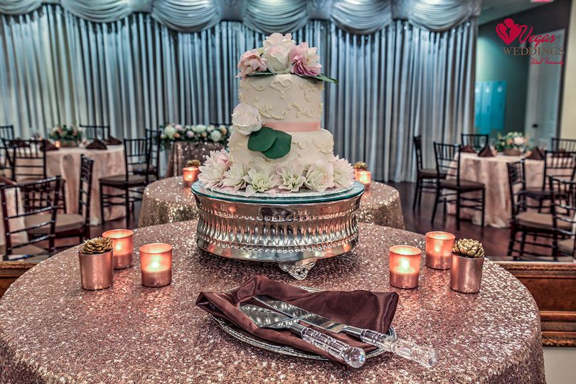 Our Wedding & Reception packages include delicious wedding cake and may custom upgrades from linens...