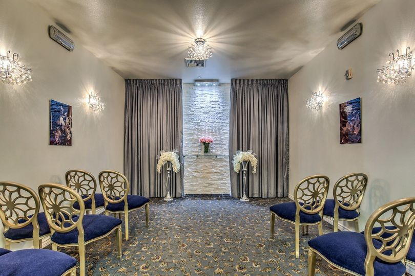 The Crystal Suite is an intimate venue seating 10 with a fun modern yet traditional wedding chapel...