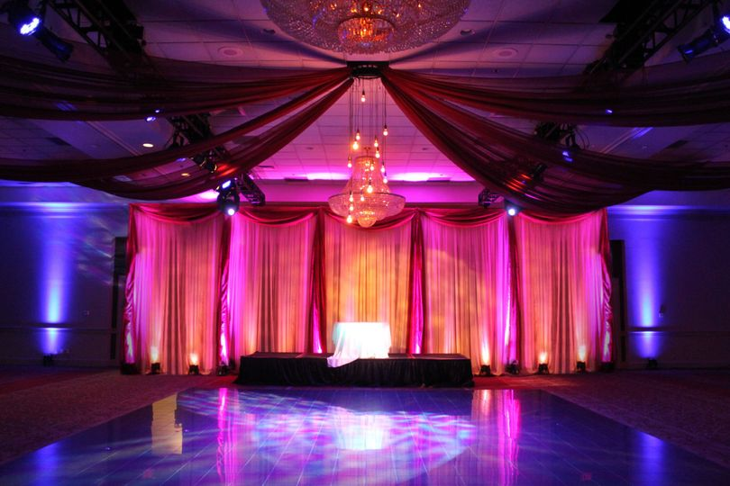 Two Tiered Backdrop w/ Ceiling