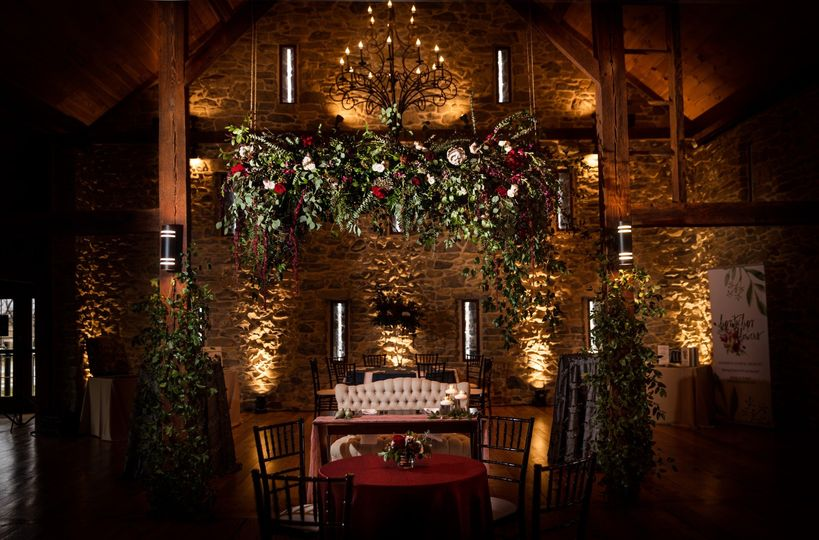Barn wood Floral with Light