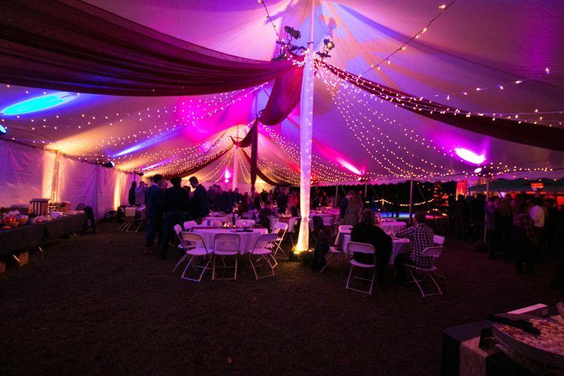 Tent Interior Light with Drape