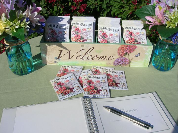 Wedding Wildflower Seed Packets to Welcome Guests!