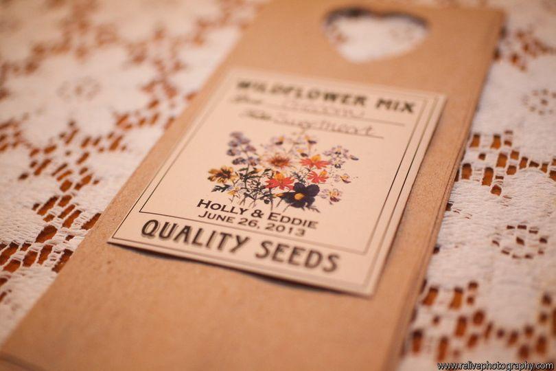 Escort Card Wildflower Seed Packets