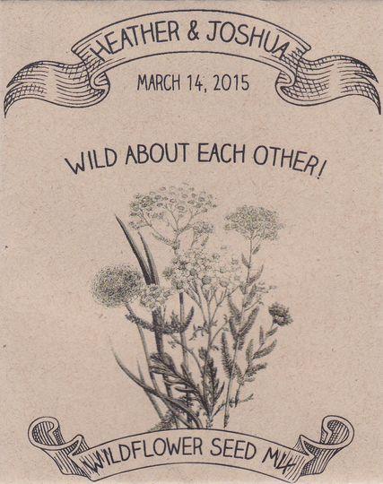 Rustic Wedding Wildflower Seed Packet