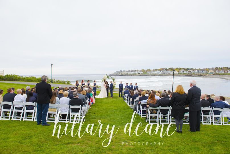 Union Bluff Hotel at York Beach, Maine is a stunning wedding venue. Perched on a cliff overlooking...