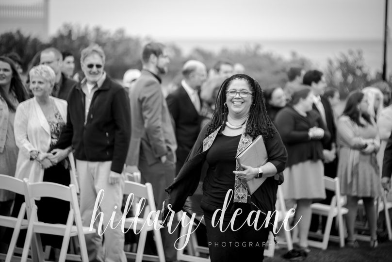 It's a little old fashioned, but I just love leading the processional!  This wedding was rather...
