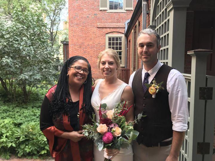 Wedding in a secret garden