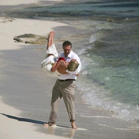 Carrying his bride